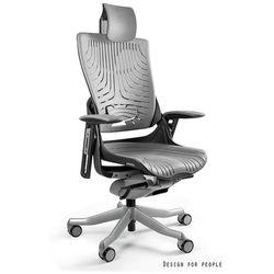 Fotel ergonomiczny czarny WAU 2 Elastomer - Szary - ZŁAP RABAT: KOD150