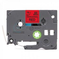 Taśma Brother TZe-S441 mocny klej czerwona/czarny nadruk 18mm x 8m zamiennik