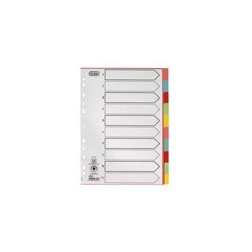 Pozostałe artykuły papiernicze, Przekladka A4 10st kol.Kar6050