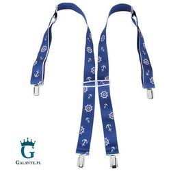Szelki do spodni Marynarskie w kolorze niebieskim BR-045