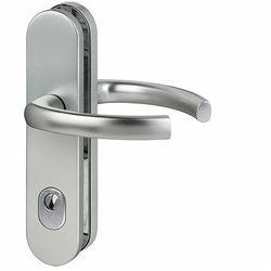 Klamka LOGO DM ES 1 z zabezpieczeniem wkładki (ZA) F1 aluminium