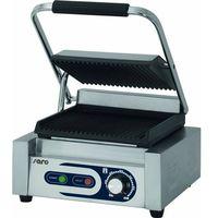 Grille gastronomiczne, Grill kontaktowy żeliwny pojedyńczy ryflowany | 220x230mm | 1800W