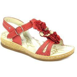 Sandały damskie Helios 669 - czerwony