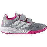 Obuwie sportowe dziecięce, adidas Performance ALTARUN Obuwie do biegania treningowe mid grey/white/shock pink - BEZPŁATNY ODBIÓR: WROCŁAW!