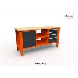 """Stół do warsztatu SWT 17/10 """"TRÓJKA"""" 4 szuflady na klucz narzędzia"""