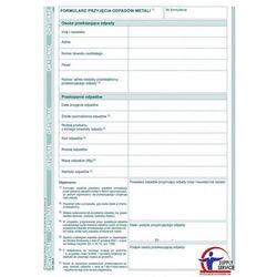 Formularz przyjęcia odpadów metali Michalczyk&Prokop E03-3 - A5 (oryginał+kopia)