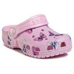 Klapki CROCS - Classic Butterfly Clog Ps 206414 Ballerina Pink