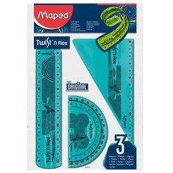 Zestaw linijek niełamliwych TWIST'N FLEX MAPED - X00985