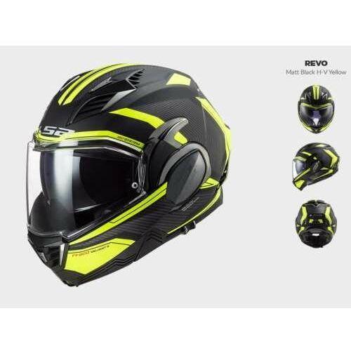 Kaski motocyklowe, KASK MOTOCYKLOWY LS2 FF900 VALIANT II REVO MATT BLACK H-V nowość 2021 roku