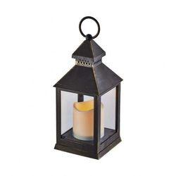 ZY2115 LAMPION LED ŚWIECZKA 24CM 3XAAA 0.06W VINTAGE TIMER CZARNY ZY2115 EMOS -- WYSYŁKA 48H--