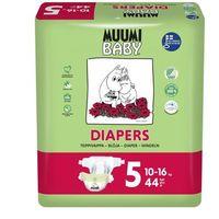 Pieluchy jednorazowe, MUUMI Baby Pieluchy 5 Maxi 44szt pieluchomajtki hipoalergiczne i ekologiczne (10-16kg)