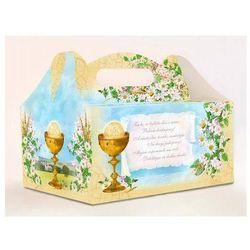 Ozdobne pudełko na ciasto komunijne z nadrukiem - kielich - 1 szt.