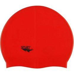 Czepek silikonowy SPURT G511 Jednokolorowy Czerwony