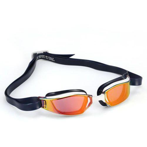 Okularki pływackie, Aquasphere okulary Xceed titanium mirror, white-black