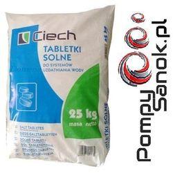Sól tabletkowana, sól tabletkowa, sól pastylkowana, tabletki solne - 25kg CIECH