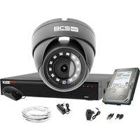 Zestawy monitoringowe, BCS Basic 4Mpx 1x BCS-B-MK42800 zestaw do monitoringu Dysk 1TB Akcesoria