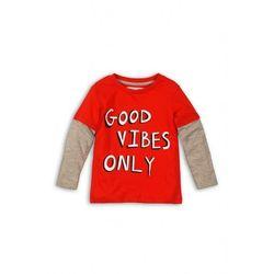 Czerwona bluzka z długim rękawem 1H39AE Oferta ważna tylko do 2023-09-20