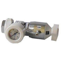Reduktor tlenu medycznego z króćcem tlenu, przepływ maks. 25 l/min.