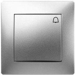 Przycisk dzwonek Elektro-Plast Volante z ramką srebrny