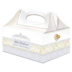 Ozdobne pudełko na ciasto weselne - 1 szt.