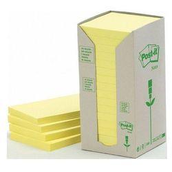 POST-IT Bloczek ekologiczny TOWER, 76 x 76mm, żółty pastel, 16 sztuk po 100 kartek