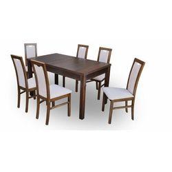 """Zestaw """"DIVA"""" stół + 6 krzeseł - pudrowy róż"""