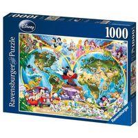 Puzzle, Ravensburger - Mapa świata według Disneya - puzzle - Ravensburger
