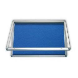 Gablota informacyjna tekstylna 75x70 wodoszczelna - niebieska