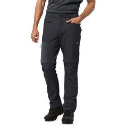 Męskie spodnie softhellowe ACTIVATE ZIP AWAY PANTS M black - 50