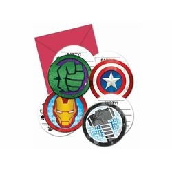 Zaproszenia urodzinowe Mighty Avengers - 6 szt.