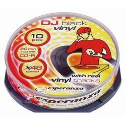 CD-R ESPERANZA 700MB/80 Vinyl Black Cake 10SZT 2096 - odbiór w 2000 punktach - Salony, Paczkomaty, Stacje Orlen