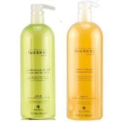 Alterna Zestaw wygładzający   Bamboo Smooth Anti Frizz   Odżywka wygładzająca - 1000ml, Bamboo Smooth Anti Frizz - szampon wygładzający 1000ml