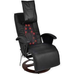 vidaXL Fotel masujący do masażu sziatzu 50% PU czarny Darmowa wysyłka i zwroty