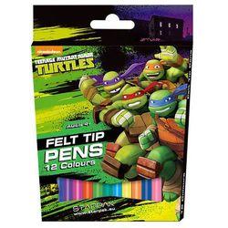 Flamastry 12 kolorów Żółwie Ninja