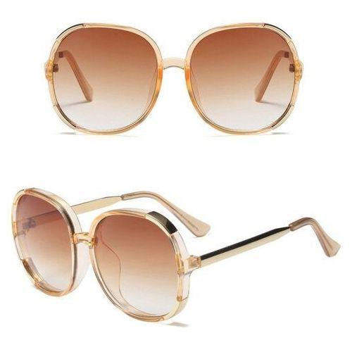 Okulary przeciwsłoneczne, Okulary przeciwsłoneczne damskie kwadratowe złote