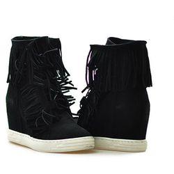 Sneakersy Chebello T323/320 Czarne zamszowe