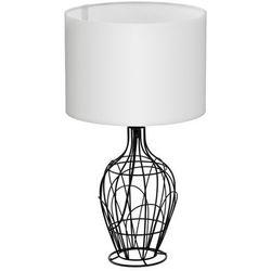 Stojąca LAMPA stołowa FAGONA 94608 Eglo abażurowa LAMPKA nocna drut biała