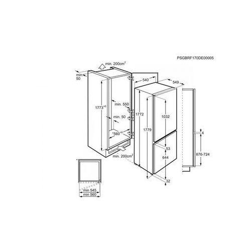 Lodówki do zabudowy, Electrolux ENN12800A