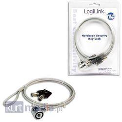 Logilink Linka zabezpieczająca notebook na kluczyk (1,5m)