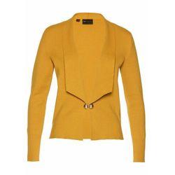 Sweter rozpinany w fasonie żakietu bonprix ciemnożółto-złocisty