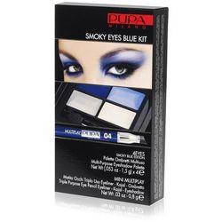 Pupa PUPA Milano Smoky Eyes Blue Kit   Paleta i kredka do makijażu Smoky Eyes niebieska