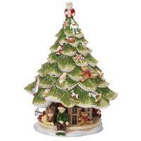 Ozdoby świąteczne, Villeroy & Boch - Christmas Toys Memory Świecznik z pozytywką Choinka z dziećmi