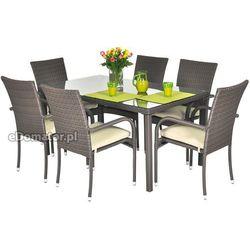Krzesło ogrodowe z technorattanu MALAGA - brązowe - brązowy Krzesło Malaga (-22%)