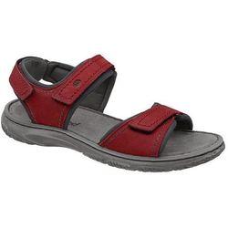 Sandały JOSEF SEIBEL 27606 TE796 400 Carlo 06 Rot Czerwone - Czerwony ||Popielaty