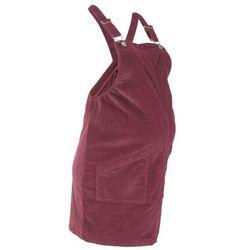Sukienka ogrodniczka ciążowa sztruksowa bonprix czerwony klonowy