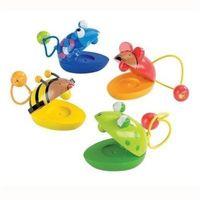 Pozostałe zabawki edukacyjne, Drewniane kastaniety zwierzątka, zabawka muzyczna, Goki 61983