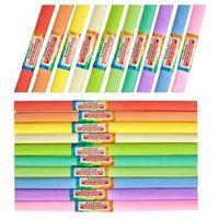 Pozostałe artykuły papiernicze, Bibuła Marszczona 50X200Cm Mix Pastel 10 Sztuk