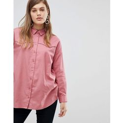 ASOS DESIGN Oversized Shirt in Casual Washed Twill - Pink
