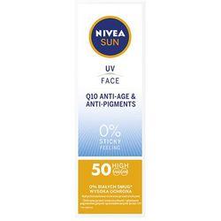 Nivea Sun UV Face Q10 Anti-Age SPF50 preparat samoopalający do twarzy 50 ml unisex