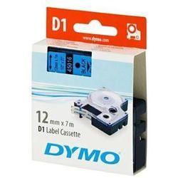 DYMO Tape cassette dymo d1 12mmx7m black/blue 45016